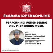 Amit Chaudhuri will perform online for the Royal Opera House, Mumbai