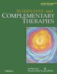 "Hiie Saumaa publishes a piece in ""Alternative and Complementary Therapies"""