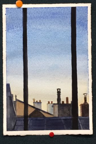 Bill Sharpe Sky and Chimneys Rue Chaumière