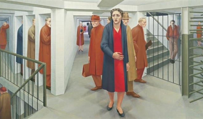 George Tooker Subway 1950 Whitney Museum of American Art New York